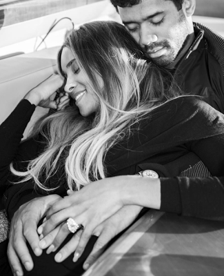 Ciara and Russell cozying up as they celebrate  their unborn baby news