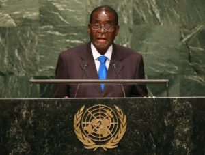 Zimbabwe's President Robert Mugabe in 2008