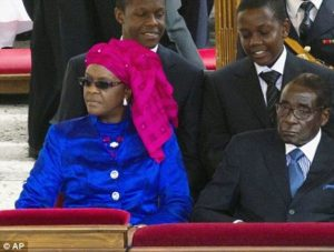 President Mugabe, wife Grace and their sons in New York