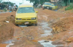 Road network in the Liberian capital Monrovia. The Paynesville- Gardnersville Road
