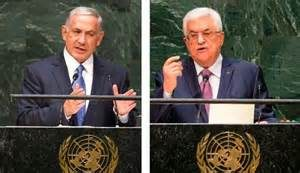 Israelite PM Benjamin Netayanhun and Paletianian Leader Mammoud Abass