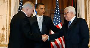 U.S. President Obama with PM Netanyahu and PLO leader Abass