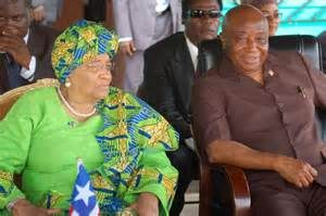 President Sirleaf (right) and VP Boakai (right)