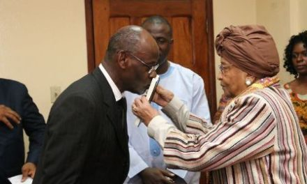 "President Sirleaf : Sheriff's Behavior ""Unbecoming,"" too little too late"