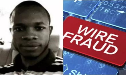 Nigerian gets 3 years in US prison for $1.3M online fraud