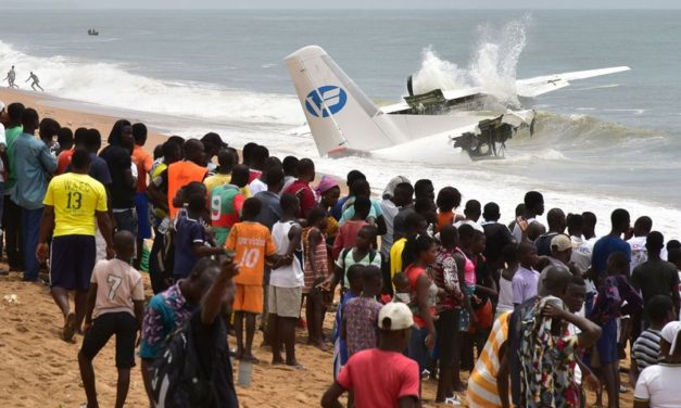 Plane carrying 10 crashes in Cote d'Ivoire, killing four people