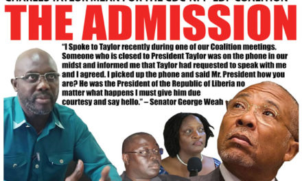 Liberia undecided: The Role of Charles Taylor and the Games of Ellen Johnson Sirleaf