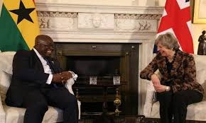UK's PM May and Ghana President Akufo-Addo hold bilateral talks