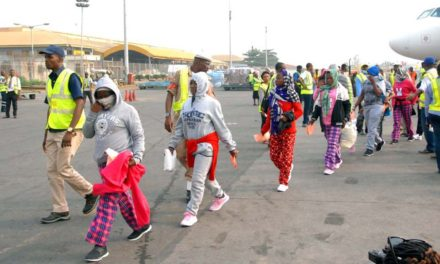 An estimated 1,500 Nigerian victims repatriated from Libya