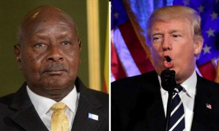 Ugandan President says he loves Trump despite 'sinkhole' remarks