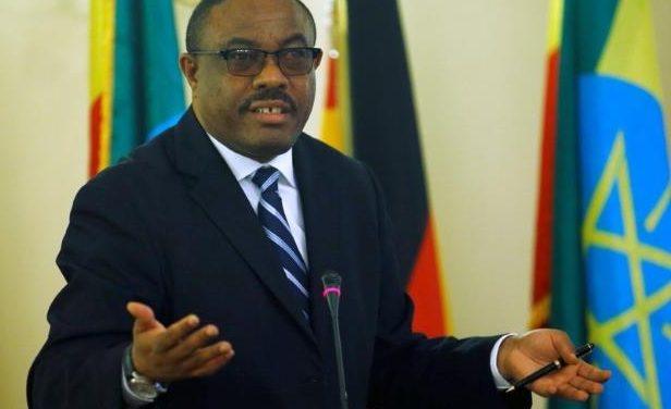 Ethiopian prime minister Hailemariam Desalegn has stepped down.