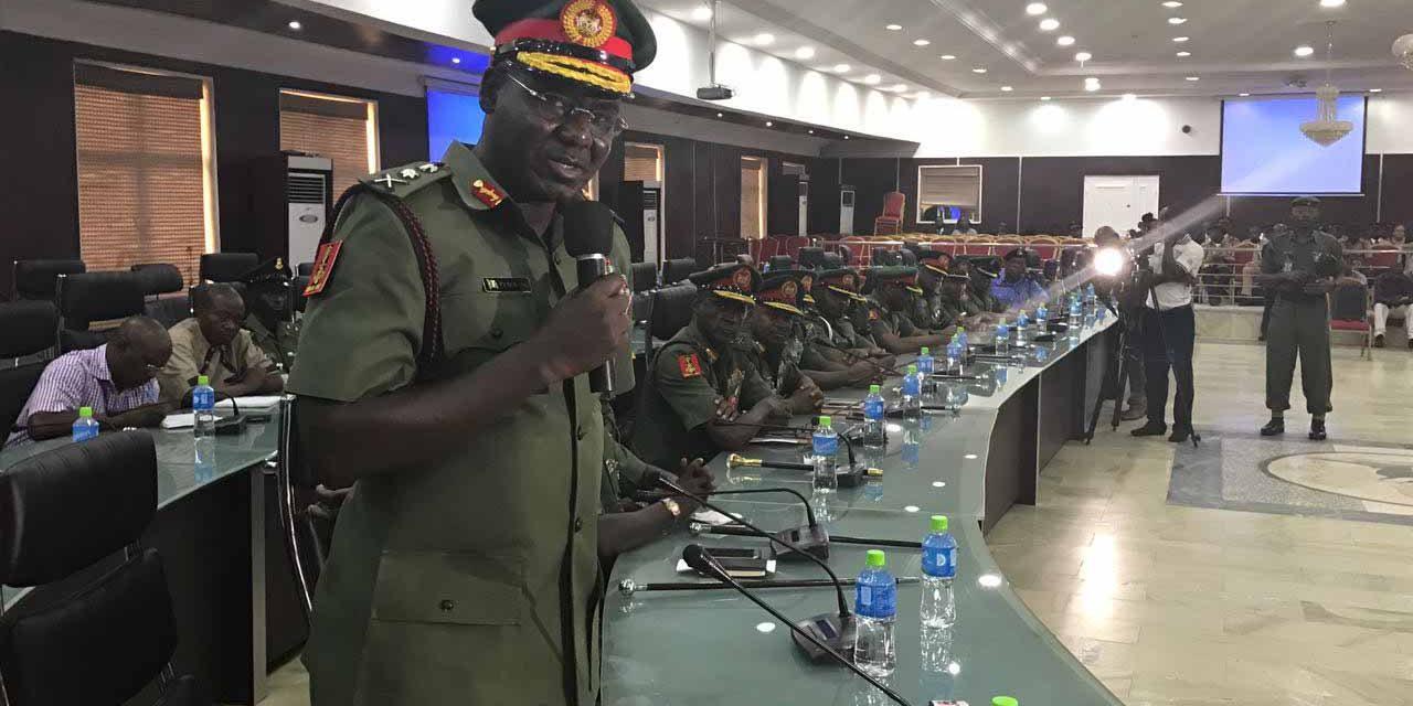 Nigeria's army chief debunked jihadist control of large terrain