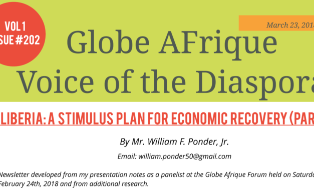 Globe Afrique's Newsletter Vol 1 Issue #202 – A Plan for Economic Recovery