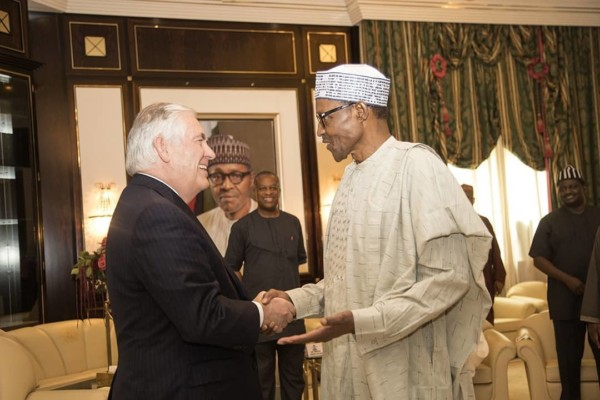 Tillerson pledges US support to Nigeria in Boko Haram fight