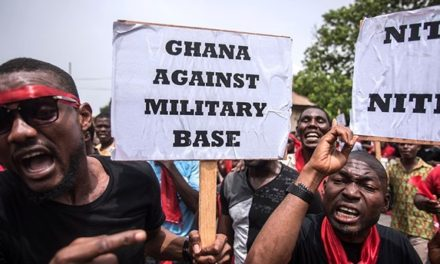 Ghanaians protest military co-operation deal with U.S.