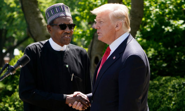 Seeking security support, Nigeria's president meets Trump
